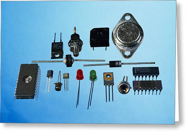 Semiconductor Components Greeting Card by Andrew Lambert Photography