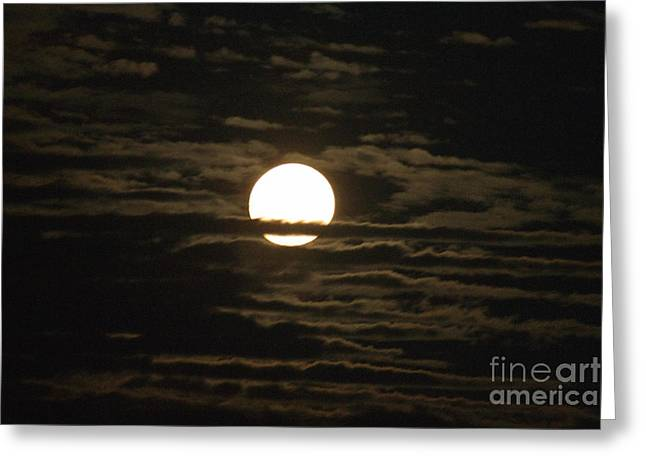 Greeting Card featuring the photograph Seneca Lake Moon by William Norton