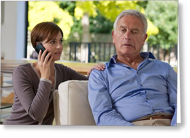 Senior Man Having A Stroke Greeting Card by