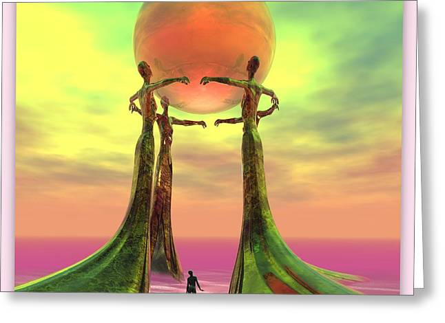 Sentinels II Greeting Card by Sandra Bauser Digital Art