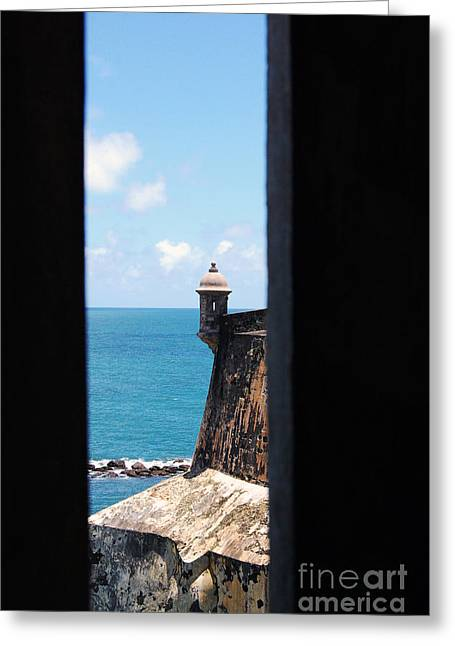 Sentry Tower View Castillo San Felipe Del Morro San Juan Puerto Rico Greeting Card by Shawn O'Brien