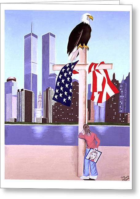 Sept. 11th- God Is Our Refuge- Psalm 121 Greeting Card by Troy Guillory
