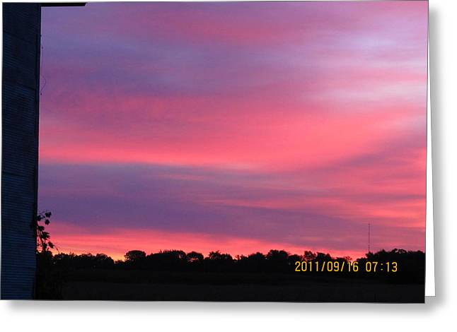 September 16 Sunrise Five Greeting Card by Tina M Wenger