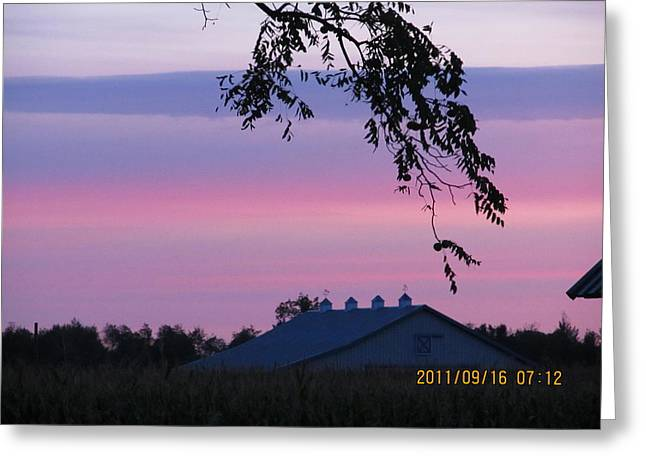 September 16 Sunrise Greeting Card by Tina M Wenger