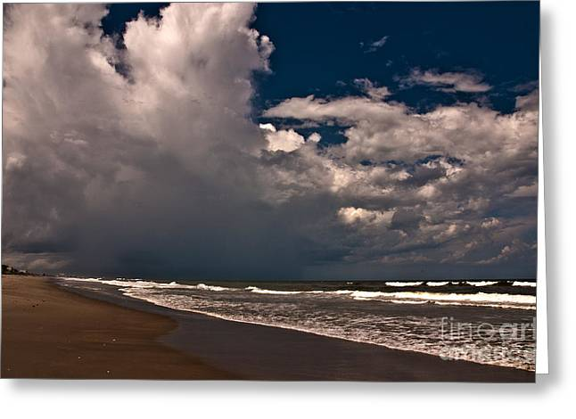 September Beach Greeting Card