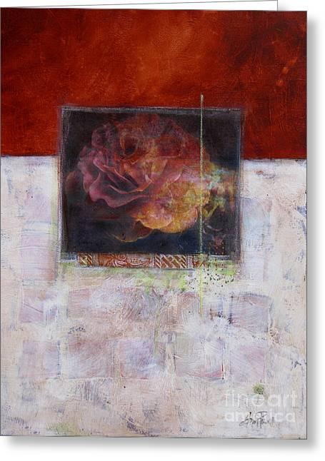 September Rose Greeting Card by Ann Powell