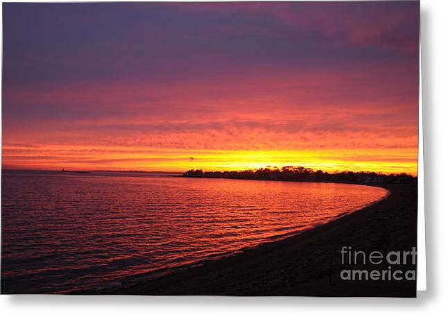 Greeting Card featuring the photograph September Sunset by Cindy Lee Longhini
