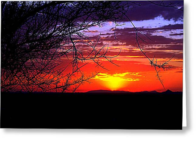 September Sunset Colors Greeting Card