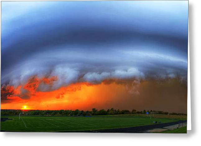 September Supercell Greeting Card by Evan Ludes