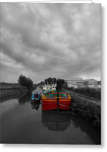 Sequana Beverley Canal Greeting Card