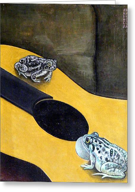 Serenade With Guitar Greeting Card by Andrea Vandoni