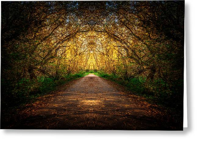 Serene Archway Greeting Card by Anthony Rego