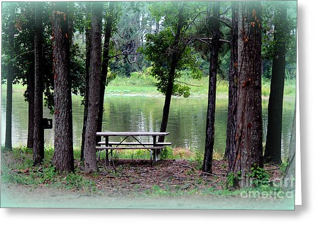 Greeting Card featuring the photograph Serene Escape by Kathy  White