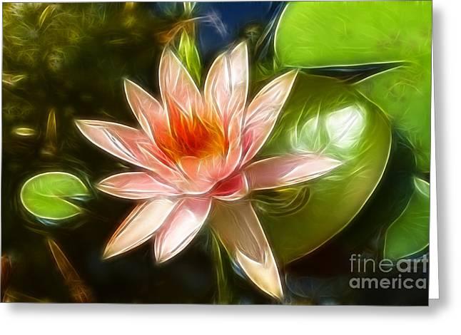 Serene Pink Waterlily  Greeting Card by Darleen Stry