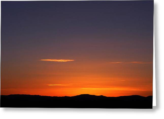 Greeting Card featuring the photograph Serene Sunset by Paul Cutright