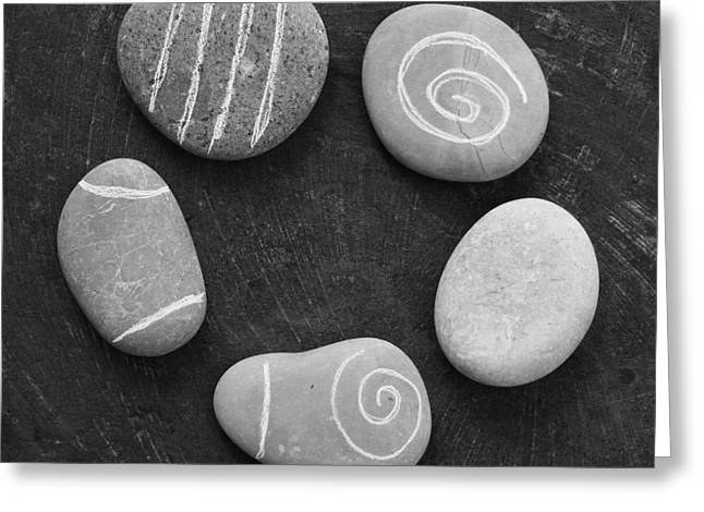 Serenity Stones Greeting Card by Linda Woods