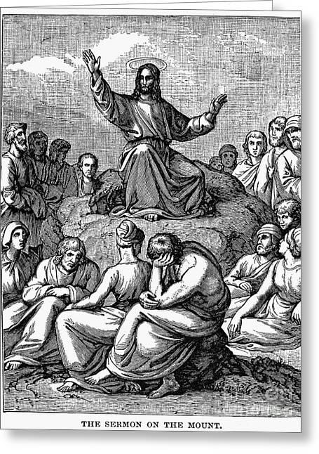 Sermon On The Mount Greeting Card
