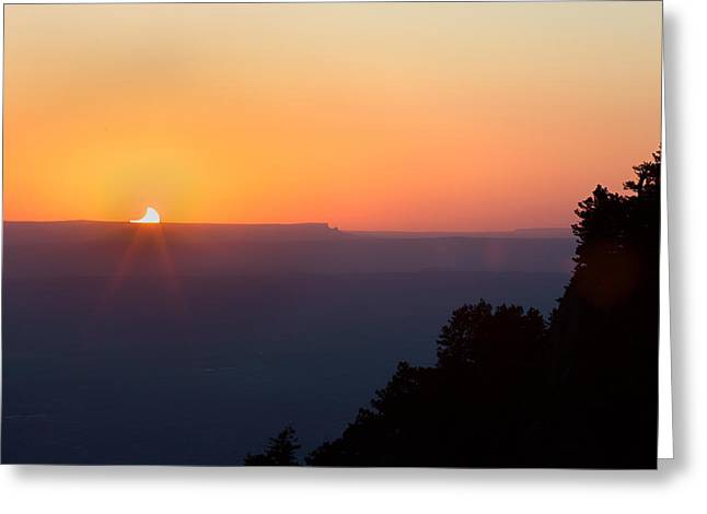 Setting Eclipsed Greeting Card