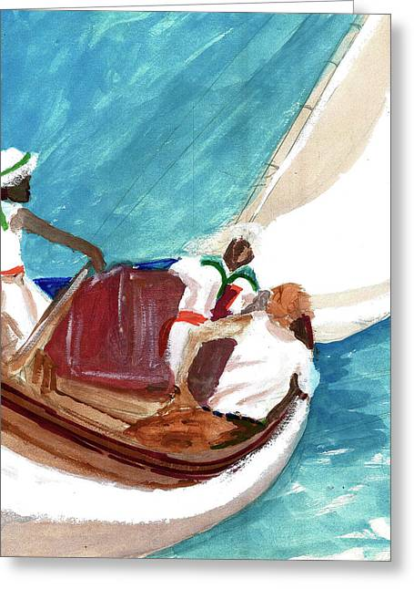 Setting Sail Greeting Card by Harry Richards