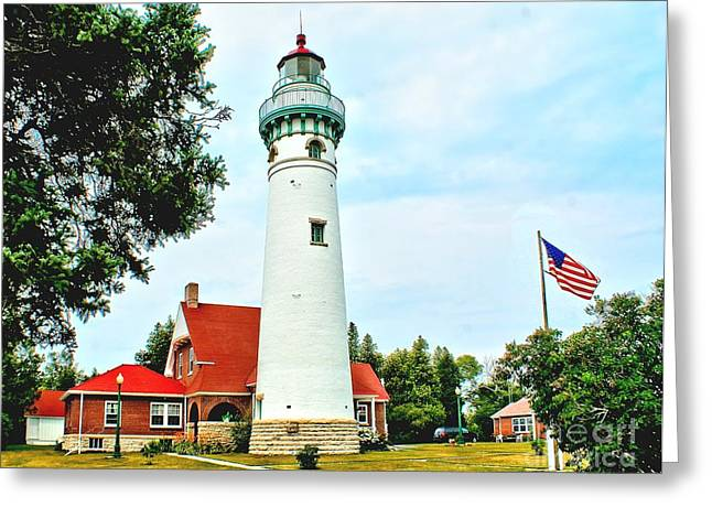 Seul Choix Point Light Greeting Card by Nick Zelinsky