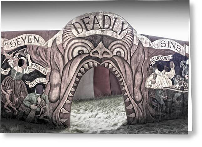 Seven Deadly Sins Greeting Card by Gregory Dyer