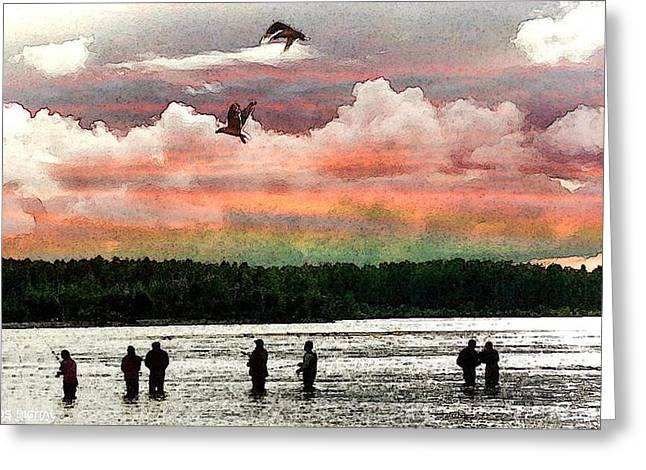 Seven Fishermen Greeting Card