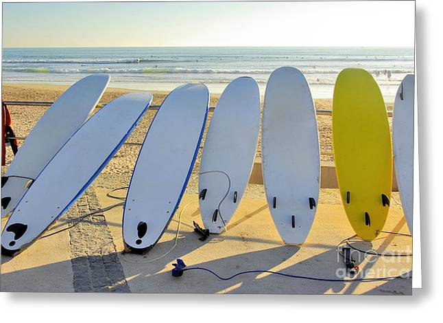 Seven Surfboards Greeting Card
