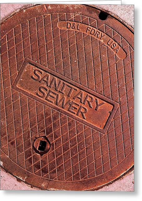 Sewer Cover Greeting Card by Bill Owen