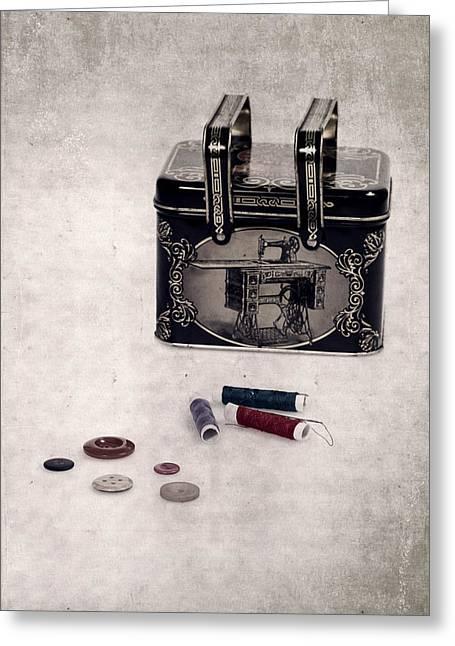 Sewing Box Greeting Card by Joana Kruse