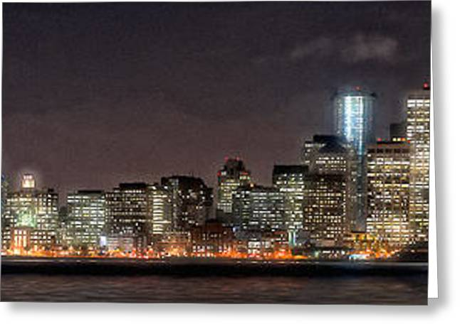 Sfo At Nite Greeting Card by Gary Rose