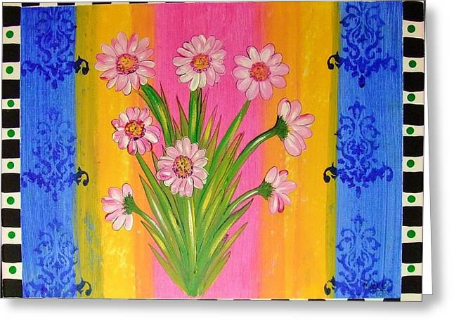 Shabby Chic Daisy Greeting Card by Cindy Micklos