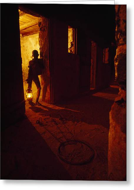 Shackles In Cell On Goree Island Recall Greeting Card by Gordon Gahan