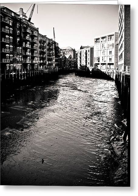 Greeting Card featuring the photograph Shad Thames Wharf by Lenny Carter