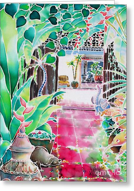 Shade In The Patio Greeting Card