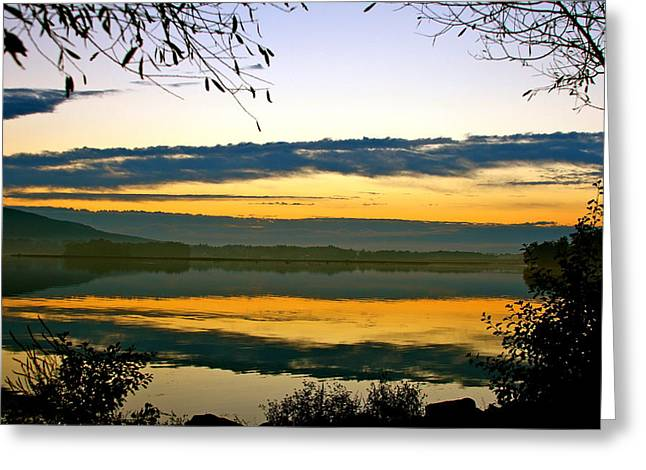 Shades Of Sundown Greeting Card by Mike Stouffer