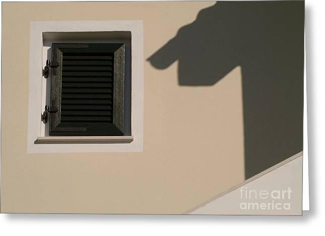 Shadow And Windows Greeting Card