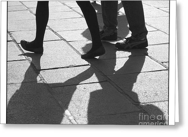 Greeting Card featuring the photograph Shadow People by Victoria Harrington