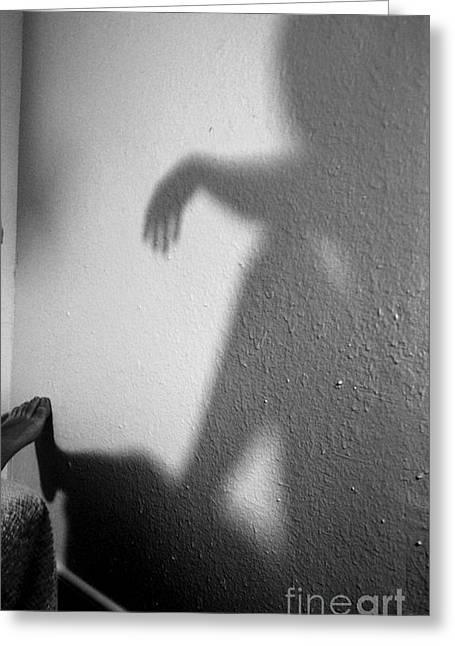 Shadow Greeting Card by Robert D McBain