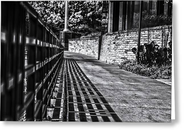Greeting Card featuring the photograph Shadow Walk by Tom Gort
