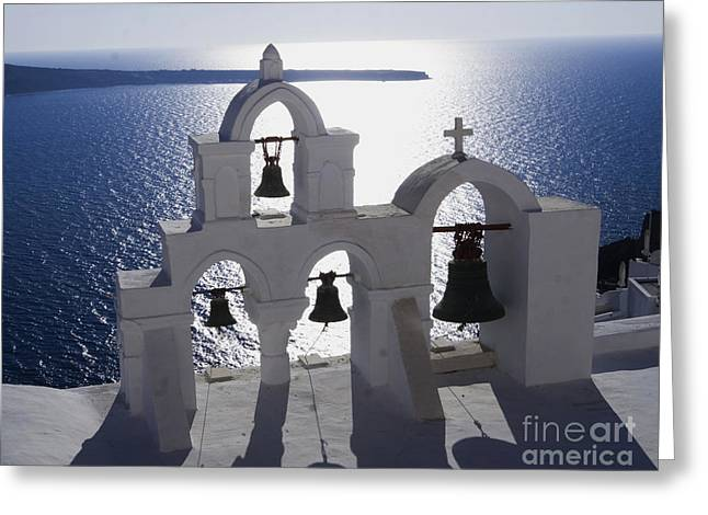 Shadows Of Santorini Greeting Card
