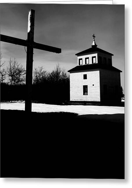 Shadows Of The Bell Tower Greeting Card