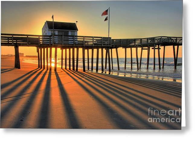 Shadows On The Shore Greeting Card by John Loreaux