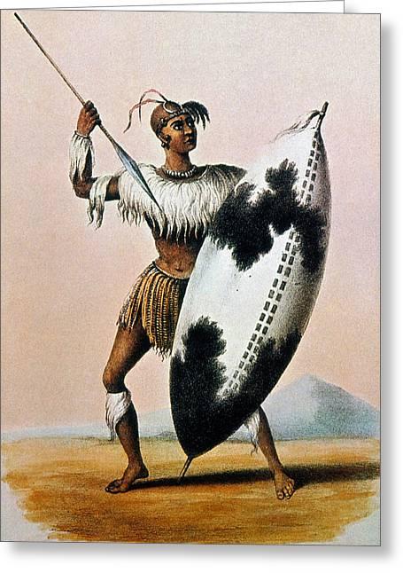 Shaka Zulu (c1787-1828) Greeting Card by Granger