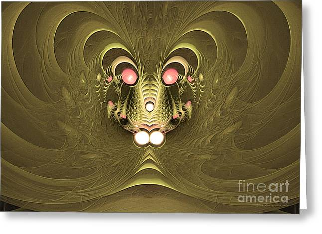 Shake Your Snake Greeting Card by Sipo Liimatainen