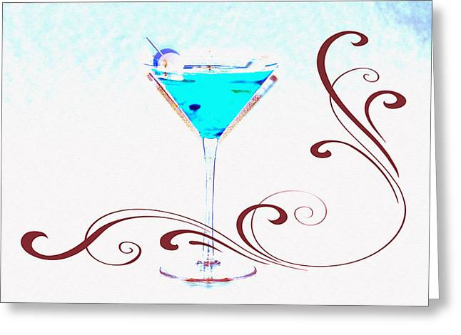 Shaken Not Stirred Greeting Card by Bill Cannon