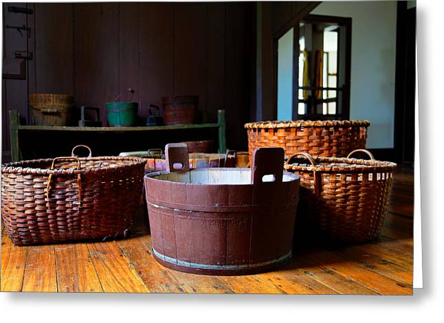 Shaker Baskets Greeting Card by Lone Dakota Photography
