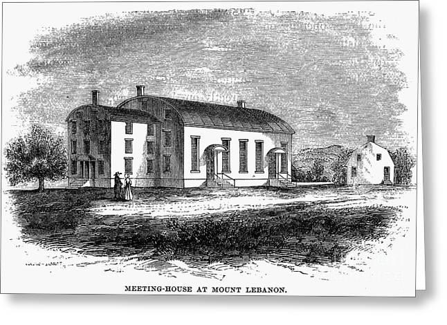 Shaker Meetinghouse, 1875 Greeting Card