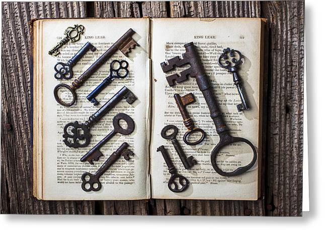 Shakspeare King Lear And Old Keys Greeting Card by Garry Gay