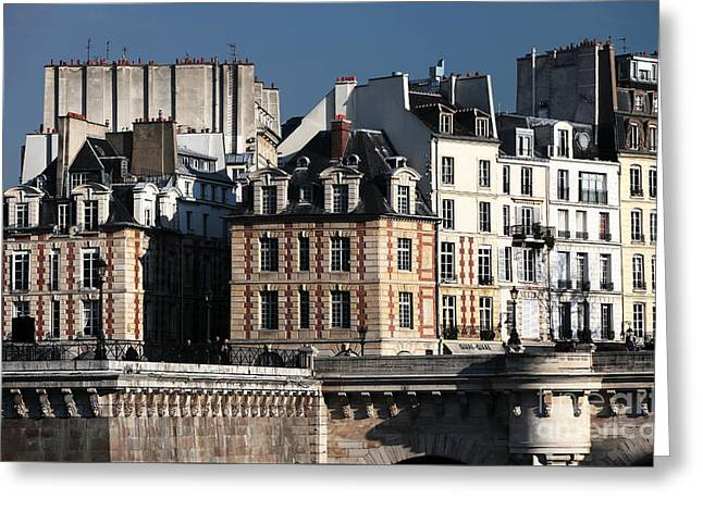 Shapes In Paris Greeting Card by John Rizzuto