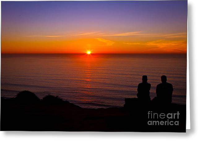 Share A Sunset To Start 2012 Greeting Card by Carl Jackson